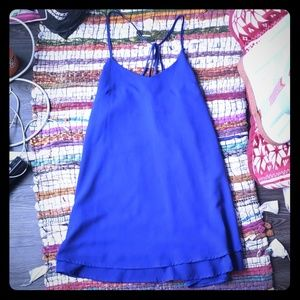 Electric blue strappy dress